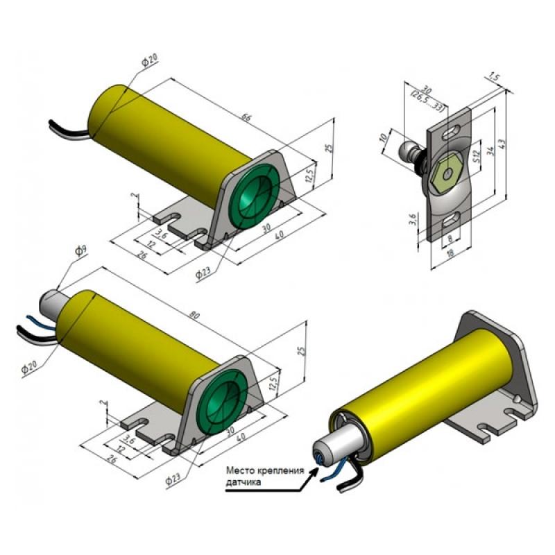 Габаритные и установочные размеры Promix-SM104