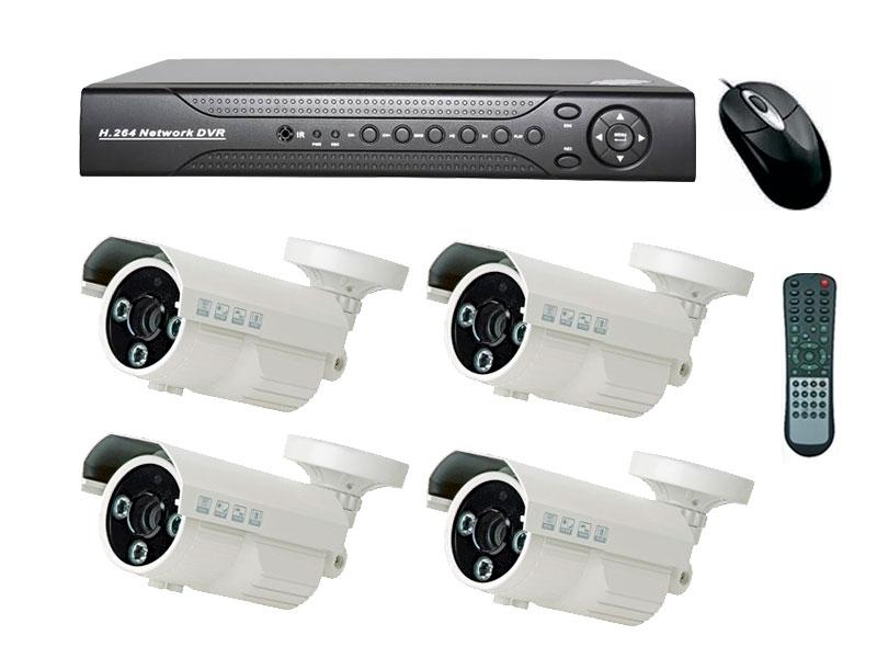 Комплект 4 аналоговых камеры