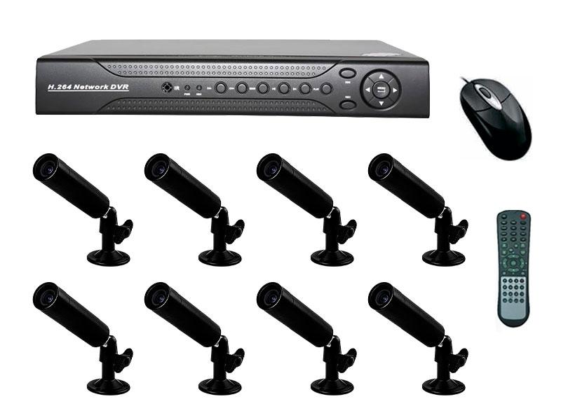 Комплект 8 камер видеонаблюдения