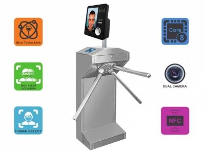 Электронная проходная с алкотестером и измерением температуры